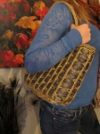 Fall colors/straw purse